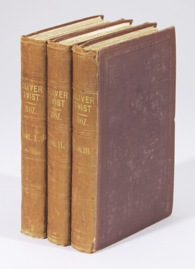 View 2. Thumbnail of Lot 50. Dickens, Oliver Twist, 1841, third edition, presentation copy inscribed to Macready.