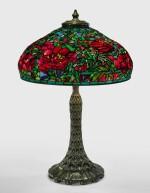 "TIFFANY STUDIOS   ""ELABORATE PEONY"" TABLE LAMP"