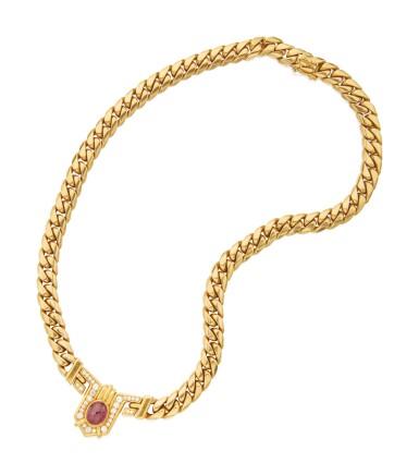 GOLD, RUBY AND DIAMOND NECKLACE, BULGARI