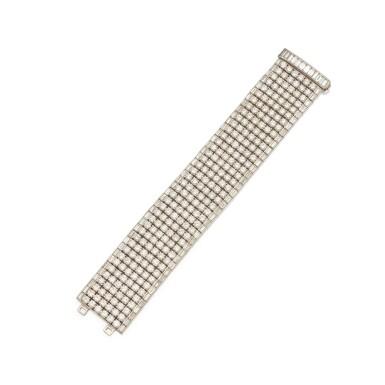 View 1. Thumbnail of Lot 408. Diamond Bracelet.