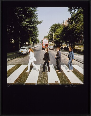 View 1. Thumbnail of Lot 56. IAIN MACMILLAN   The Beatles, Abbey Road Out-take, 1969, chromogenic print, signed and numbered AP .