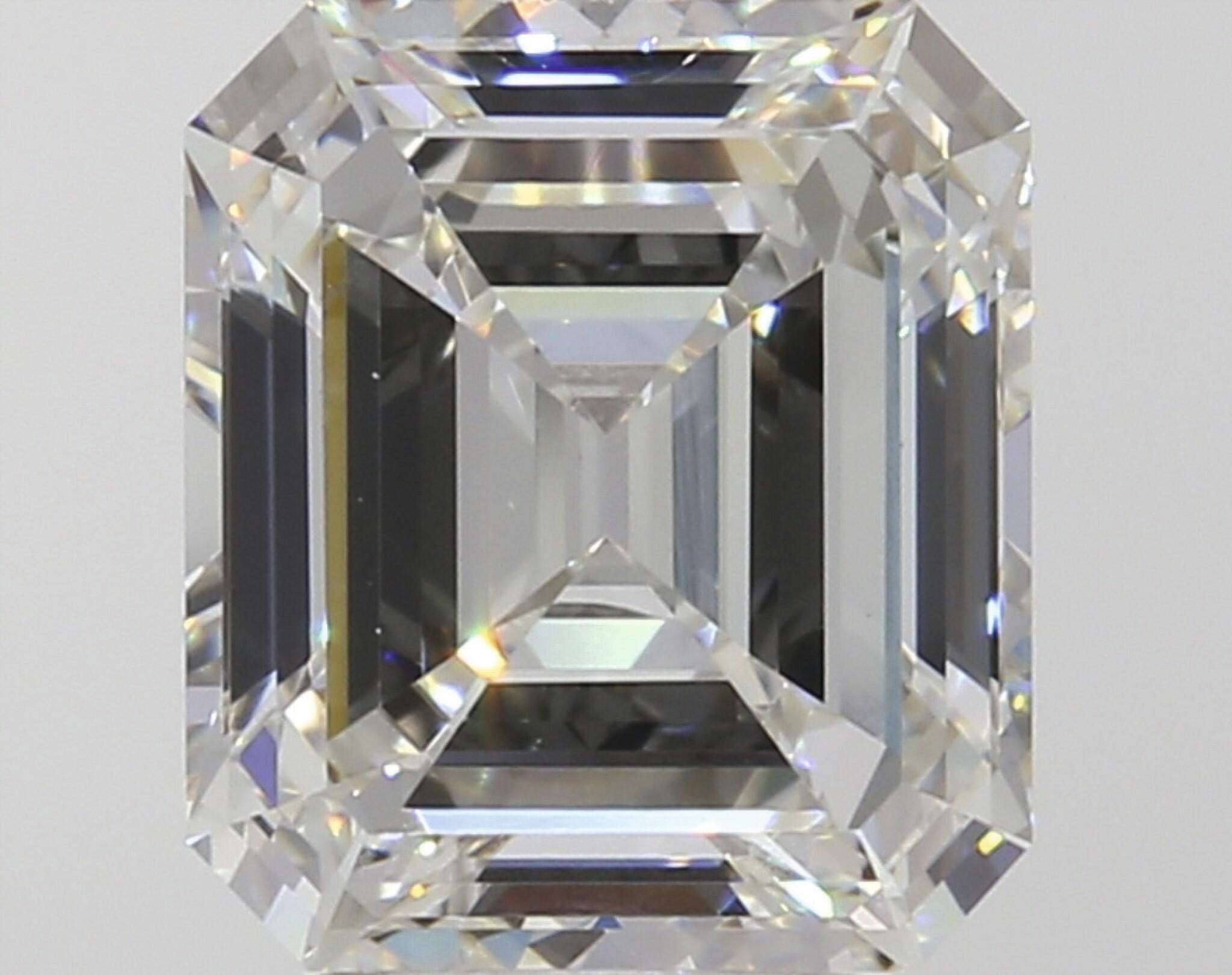 A 3.10 Carat Emerald-Cut Diamond, I Color, VS1 Clarity