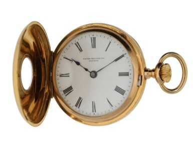 View 2. Thumbnail of Lot 111. PATEK PHILIPPE | RETAILED BY A.H. RODANET: A PINK GOLD DEMI HUNTING CASED WATCH CIRCA 1900.