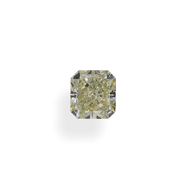 A 1.30 Carat Fancy Light Yellow Cut-Cornered Rectangular Modified Brilliant-Cut Diamond, VS2 Clarity