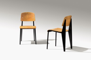 View 3. Thumbnail of Lot 7. Pair of Standard chairs, model no. 305, circa 1950.
