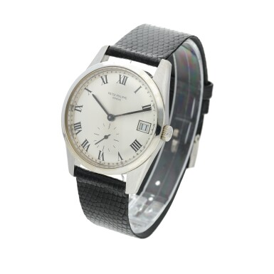 View 3. Thumbnail of Lot 235. Reference 3558G A white gold wristwatch with date, Made in 1971 .