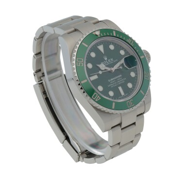 View 3. Thumbnail of Lot 6. Retailed by Bucherer: 'Hulk' Submariner, Ref. 116610LV Stainless steel wristwatch with date and bracelet Circa 2020 | 勞力士| 零售商為Bucherer:116610LV型號「'Hulk' Submariner」精鋼鍊帶腕錶備日期顯示,年份約2020.