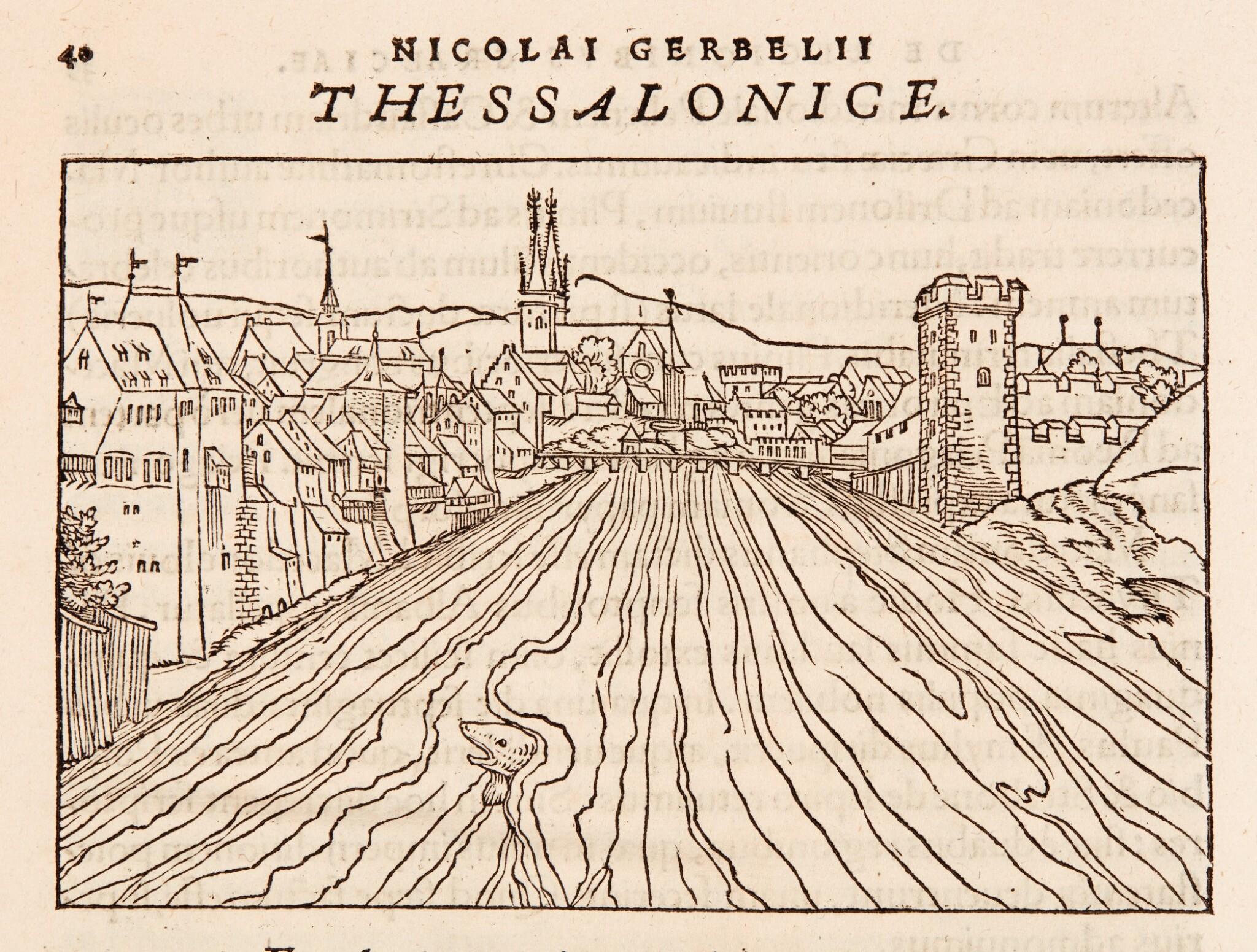 View 1 of Lot 181. Gerbelius   In descriptionem Graeciae Sophiani, praefatio, (Basel: Oporinus, 1545).