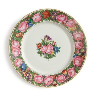 View 2. Thumbnail of Lot 259.  A SET OF EIGHT NYMPHENBURG DINNER PLATES, EARLY 20TH CENTURY.