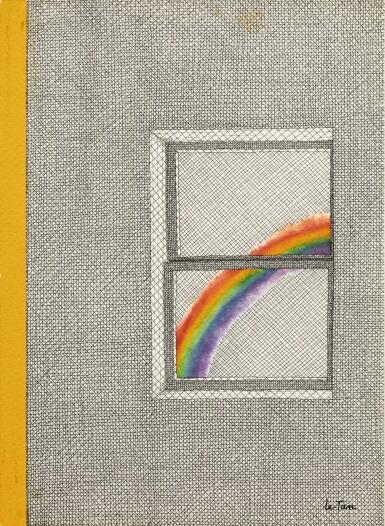 View 1. Thumbnail of Lot 49. Une couverture pour The New Yorker : un arc-en-ciel vu d'une fenêtre.