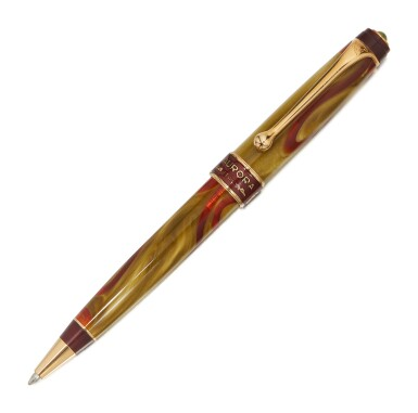 AURORA   A LIMITED EDITION GOLD PLATED AND RESIN BALLPOINT PEN, CIRCA 2000
