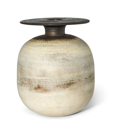 View 1. Thumbnail of Lot 78. HANS COPER | OVOID POT WITH DISC.