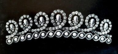 View 17. Thumbnail of Lot 180. Musy | Magnificent and Historic Natural pearl and diamond tiara/necklace, second half of the 19th century | Musy | 天然珍珠配鑽石王冠/項鏈,十九世紀下半葉,具歷史價值.