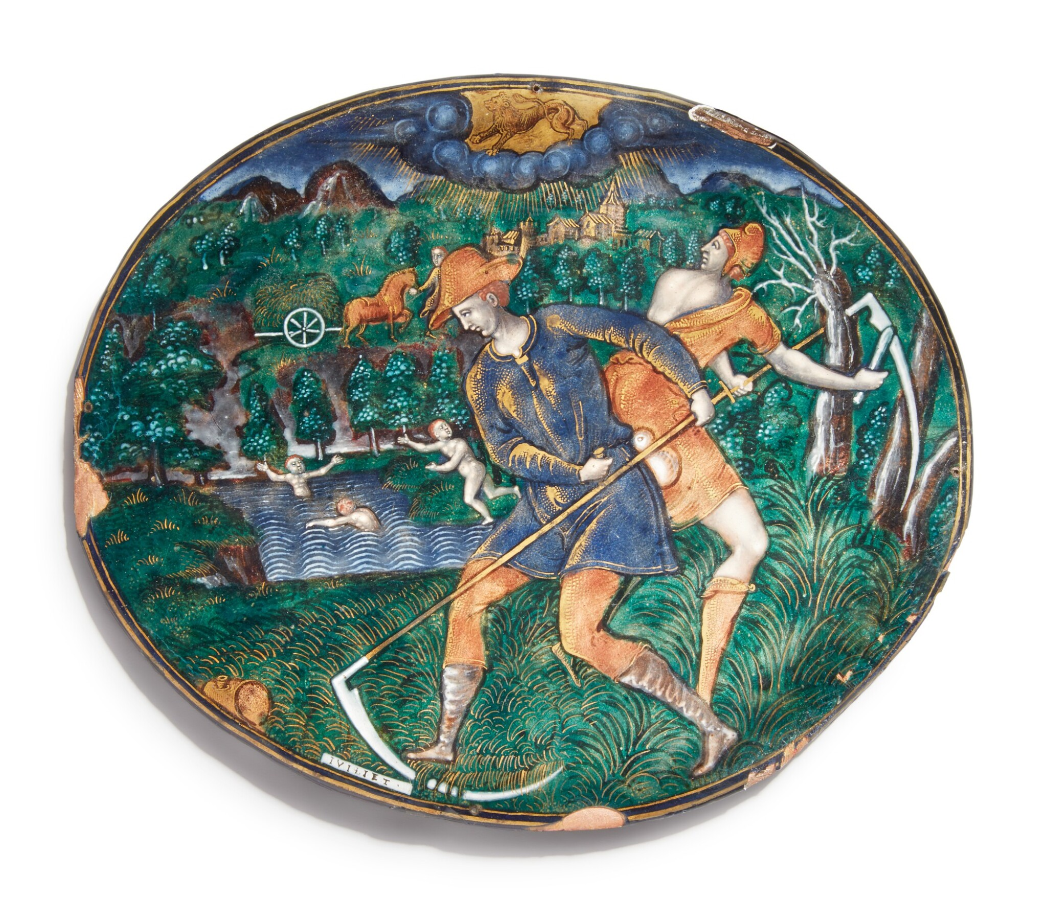View full screen - View 1 of Lot 768. plaque of July, from the series of the Months.