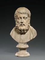 A Roman Marble Portrait Bust of Hermarchos of Mytilene, circa 1st Century A.D.