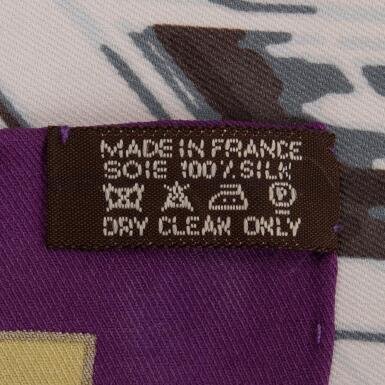 "View 3. Thumbnail of Lot 149. Hermès ""Quand Soudain"" Silk Twill Scarf 70cm."