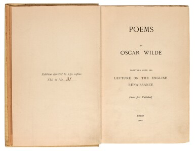 View 3. Thumbnail of Lot 174. WILDE   Collection of six volumes, 1903-1934.