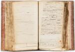 ORBIGNY. L'Homme américain. Manuscrit autographe. [Vers 1838]. Fort in-4, demi-chagrin rouge. 550 p.