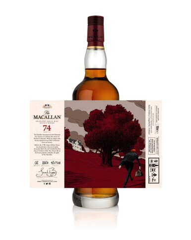 View 9. Thumbnail of Lot 1. The Macallan Red Collection with Exclusive Labels Illustrated by Javi Aznarez (6 bts 70cl).