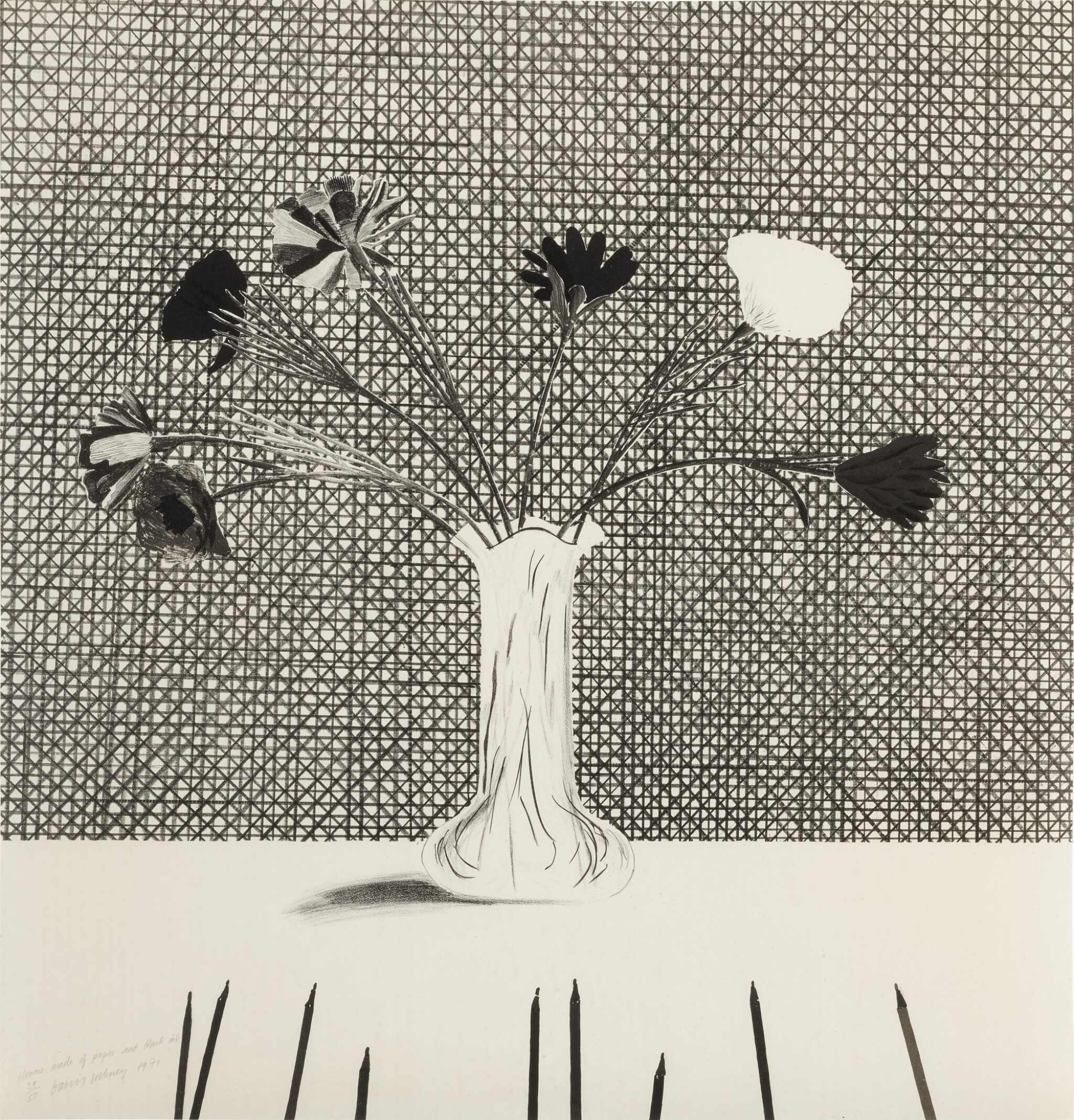 View 1 of Lot 77. Flowers Made of Paper and Black Ink (S.A.C. 120; M.C.A.T. 114).