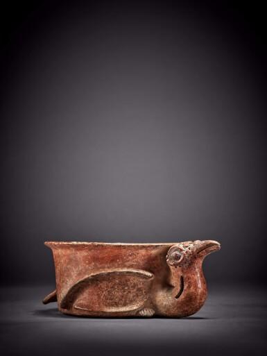 View 1. Thumbnail of Lot 100. Maya Bird Effigy Vessel Early Classic, circa AD 250 - 450.