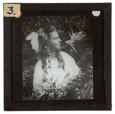View 6. Thumbnail of Lot 72. [DOYLE, Sir A.C.] COTTINGLEY FAIRIES   Collection from M.T. Johnson, including 5 photographic plates, psychic spectacles.