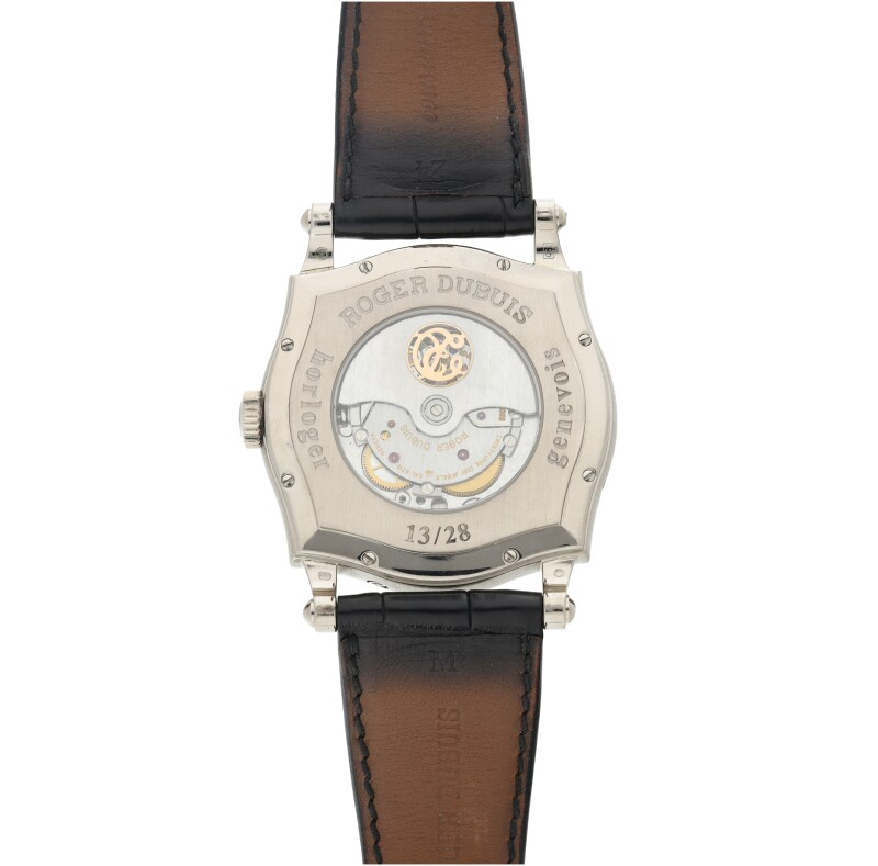 A White Gold Limited Edition Automatic Biretrograde Perpetual Calendar Wristwatch with Moon Phases and Leap Year Indication, Circa 2004
