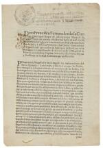 Francisco Fernández de la Cueva, 10th Duke of Alburquerque, printed document signed, 22 August 1710