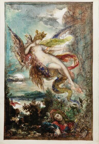 View 3. Thumbnail of Lot 9. Femme sur un griffon     .