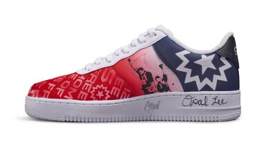 View 4. Thumbnail of Lot 118. Custom Air Force 1, by Opal Lee, Niko Brim, & Sierato in honor of Juneteenth Holiday Campaign, Size 10.5.