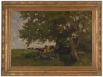NATHANIEL HONE, R.H.A. | COWS SHELTERING UNDER A TREE
