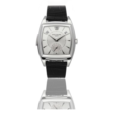 PATEK PHILLIPE | REF 5033P, A PLATINUM AUTOMATIC ANNUAL CALENDAR MINUTE REPEATING WRISTWATCH CIRCA 2008