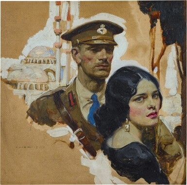 View 1. Thumbnail of Lot 88. Untitled (Soldier and Woman).