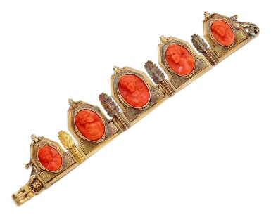 View 2. Thumbnail of Lot 9001. Yellow Gold and Coral Diadem, 1845 | 黃金 配 珊瑚 皇冠, 1845年.