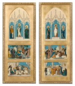 Two Sketches for the Chapel of Saint Louis at Sainte-Clotilde Decorations: Prudence, Justice and Temperance; Saint Louis Dispensing Justice; Saint Louis Made Prisoner at Mansourah and Faith, Hope and Charity; Saint Louis Caring for the Sick; Saint Louis' Last Communion