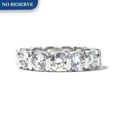View 1. Thumbnail of Lot 6. Diamond Band Ring.