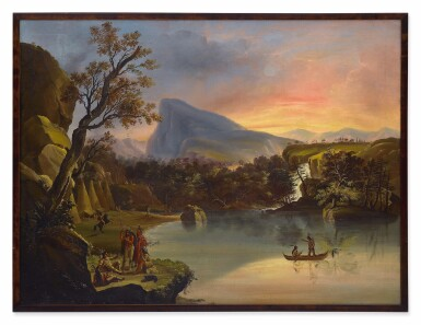 View 2. Thumbnail of Lot 27. American Landscape with Indians.