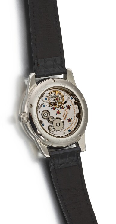 View 3. Thumbnail of Lot 103. GLASHÜTTE   KLASSIK, REFERENCE 49.08.02.02.06 A LIMITED EDITION STAINLESS STEEL WRISTWATCH WITH PORCELAIN DIAL, CIRCA 2005.