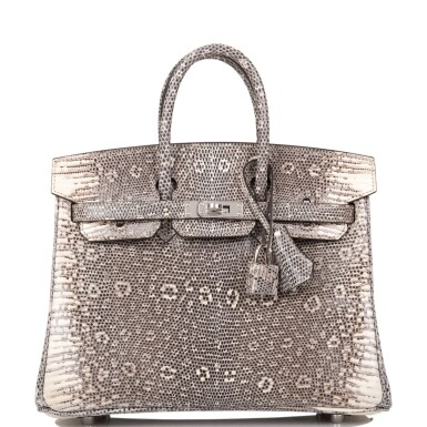 View 1. Thumbnail of Lot 2. Hermès Ombre Birkin 25cm of Varanus Salvator Lizard with Palladium Hardware.