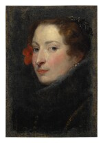 ATTRIBUTED TO SIR ANTHONY VAN DYCK | PORTRAIT OF MARCHESA ELENA GRIMALDI CATTANEO, BUST LENGTH, A STUDY