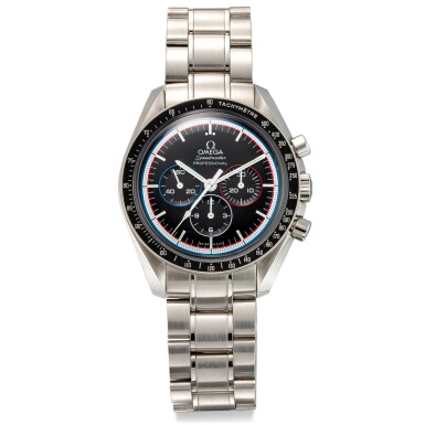 """View 1. Thumbnail of Lot 8102. OMEGA   SPEEDMASTER PROFESSIONAL MOONWATCH, REFERENCE 311.30.42.30.01.003   A LIMITED EDITION STAINLESS STEEL CHRONOGRAPH WRISTWATCH WITH BRACELET, MADE TO COMMEMORATE THE 40TH ANNIVERSARY OF """"APOLLO 15"""" MISSION, CIRCA 2011   歐米茄   超霸系列專業月球錶 型號311.30.42.30.01.003   限量版精鋼計時鏈帶腕錶,為紀念阿波羅15任務40週年而製,約2011年製."""