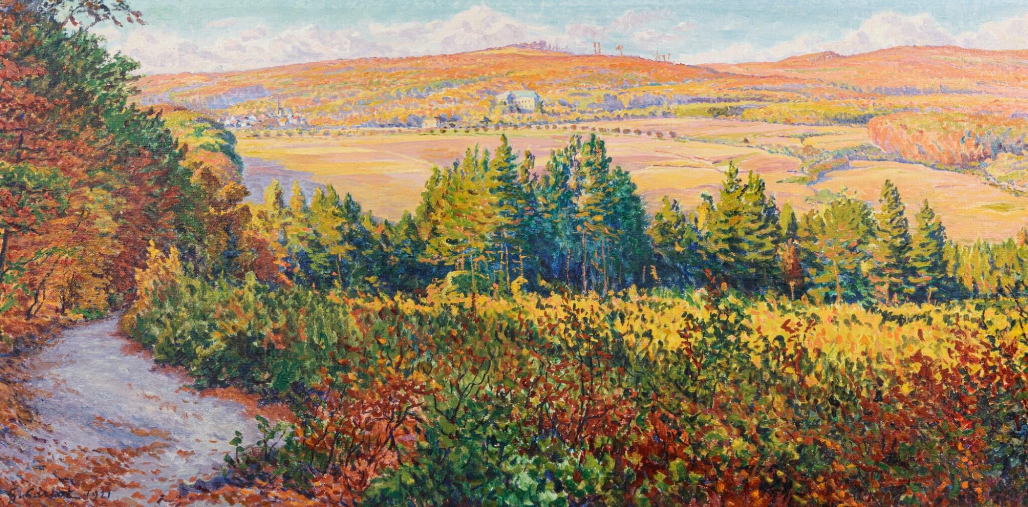 View 1 of Lot 108. Paysage, effets d'automne à Mandres.