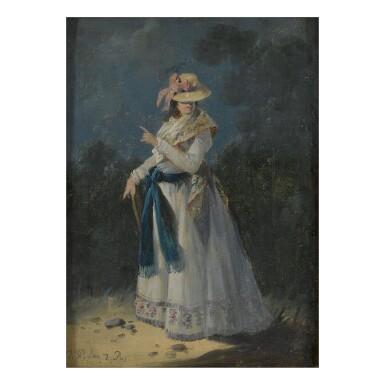 View 2. Thumbnail of Lot 146. An Elegant Young Woman.