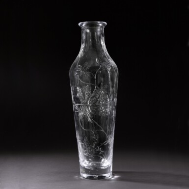 View 1. Thumbnail of Lot 142. A very large glass vase, Imperial Glass Factory, St Petersburg, Period of Nicholas II (1894-1917), 1909.