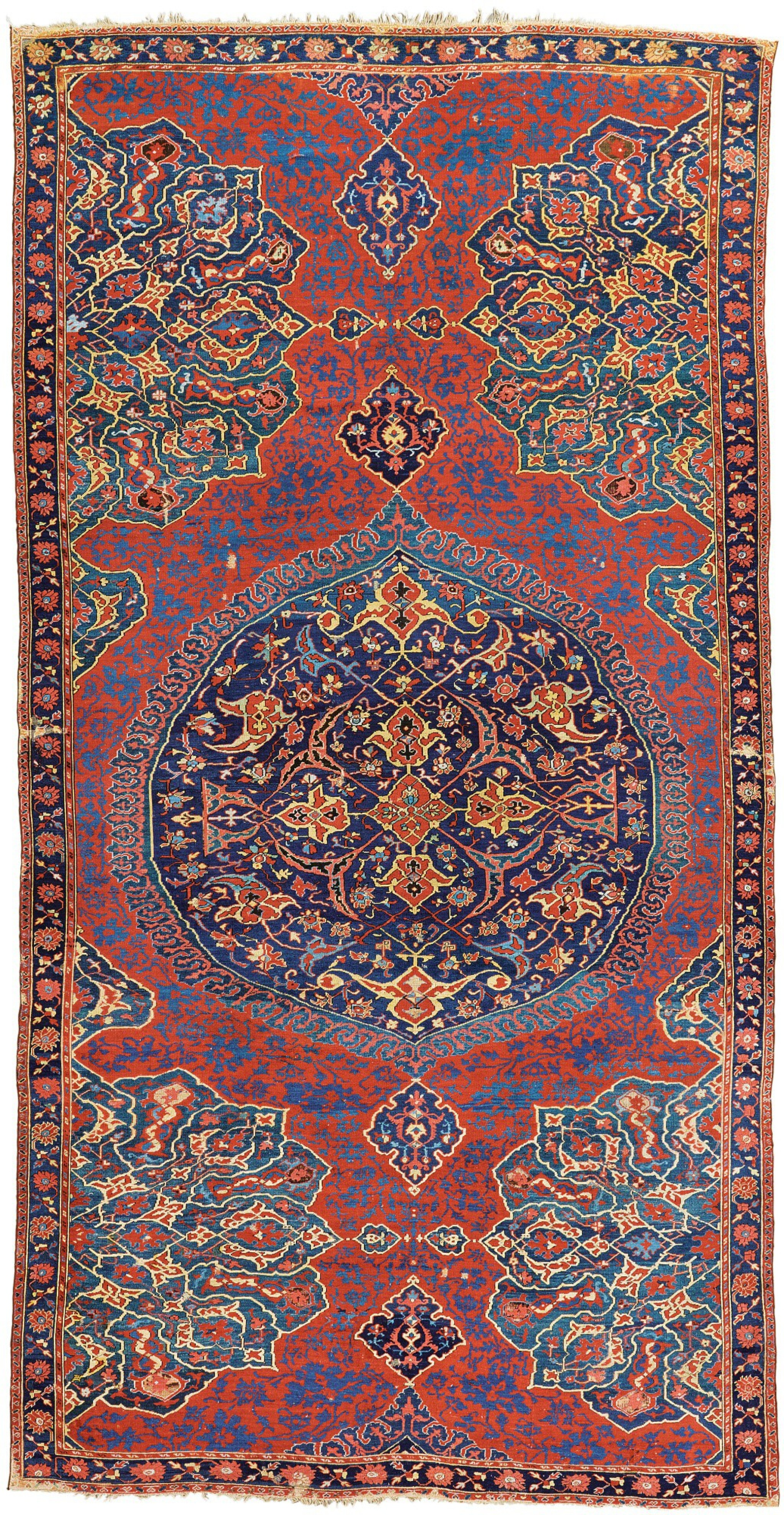 View full screen - View 1 of Lot 270. WEST ANATOLIA, An Oushak 'Medallion' carpet, second half 16th century.