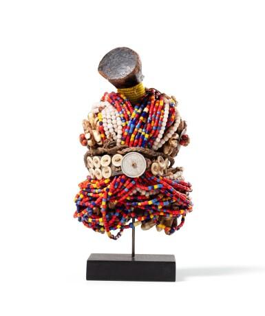 View 4. Thumbnail of Lot 35. Cinq poupées, Fali, Cameroun | Five Fali dolls, Cameroun.
