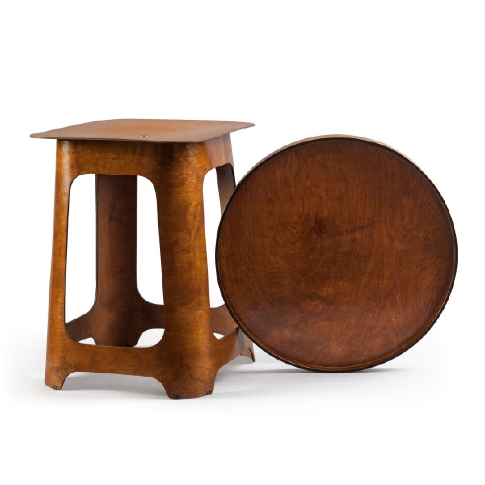 View full screen - View 1 of Lot 87. Isokon, London, est. 1931   Stool/Table with Tray.
