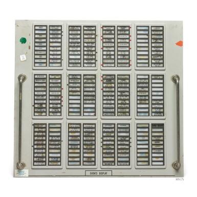 View 5. Thumbnail of Lot 105. [APOLLO PROGRAM]. SATURN V & SATURN IB/ APOLLO FIRING ROOM CONTROL PANELS.