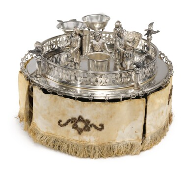 View 2. Thumbnail of Lot 143. A SILVER SEDER COMPENDIUM, PROBABLY GERMAN OR AUSTRIAN, LATE 19TH CENTURY.