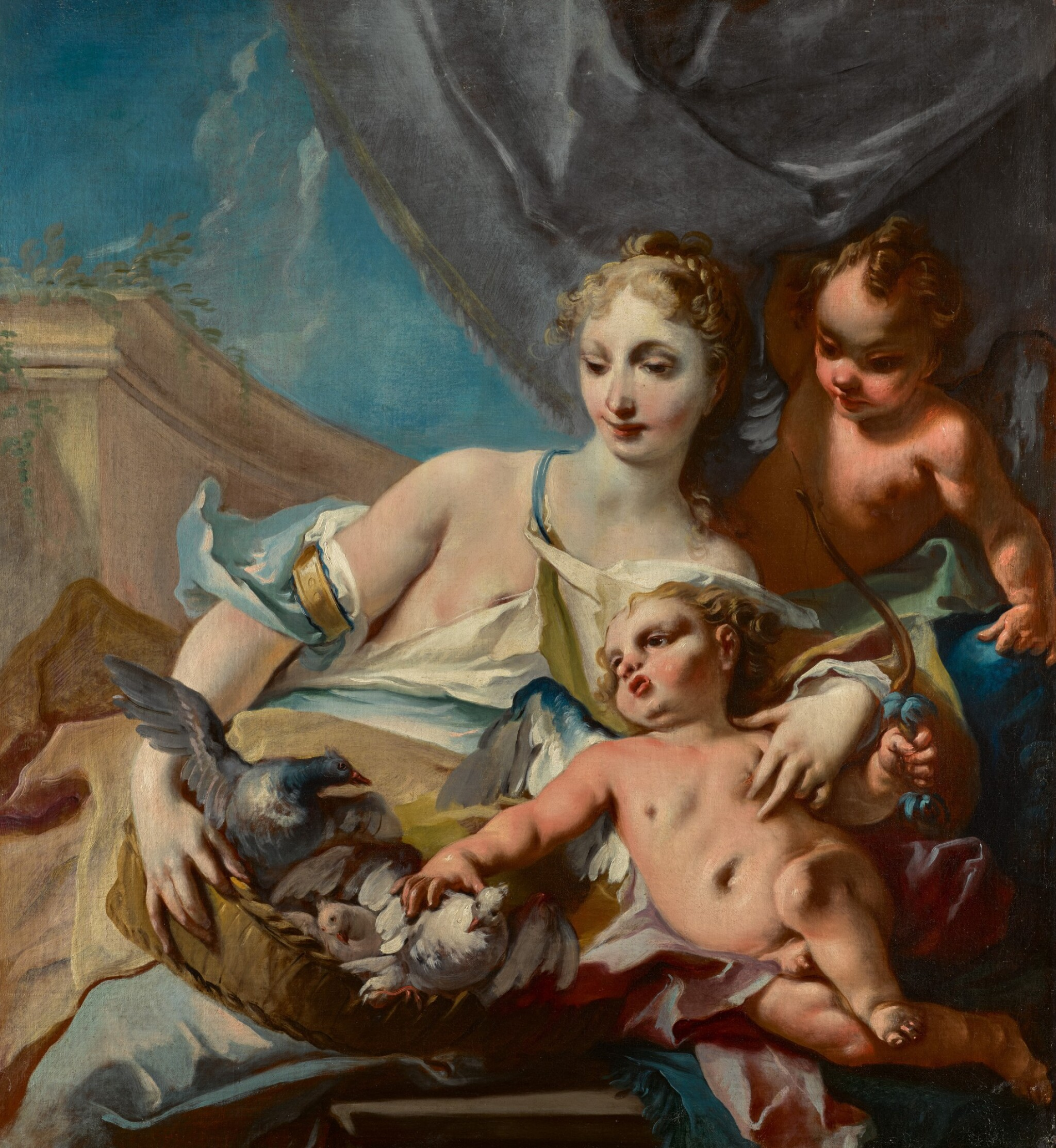 View 1 of Lot 174. Venus, Cupid and putto.